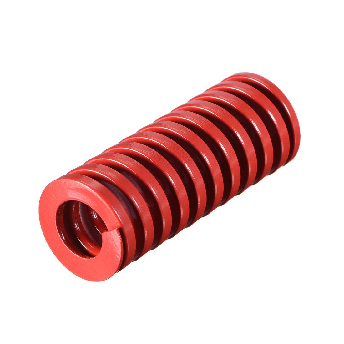 sourcing map 30mm od 100mm largo estampado en espiral molde de compresi/ón de carga media tornillo de resorte 1pcs