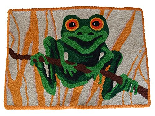 Tree Frog Handmade Accent Rug