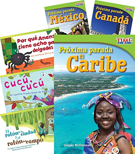 Países y regiones (Countries and Regions) 6-Book Set (Language Arts) (Spanish Edition) by Shell Education