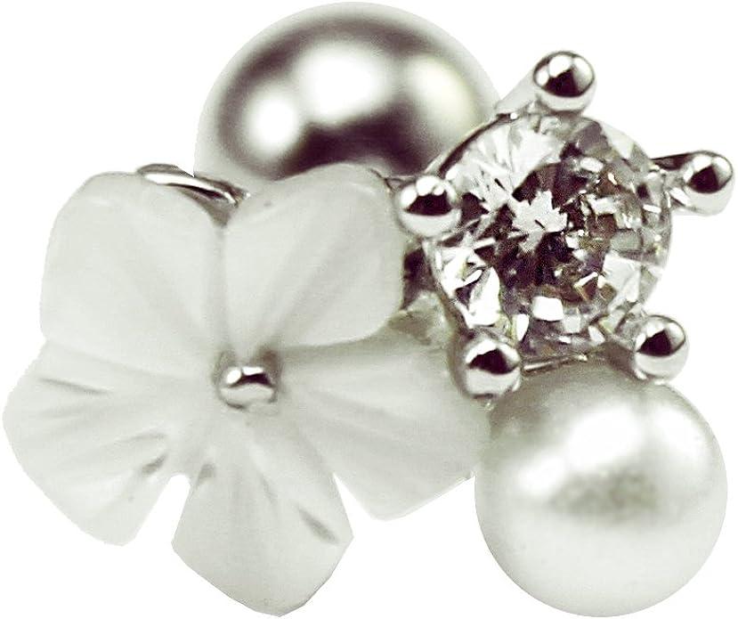 Opal Labret Helix Cartílago Stud Oreja De Rosca Interior joyas de cuerpo