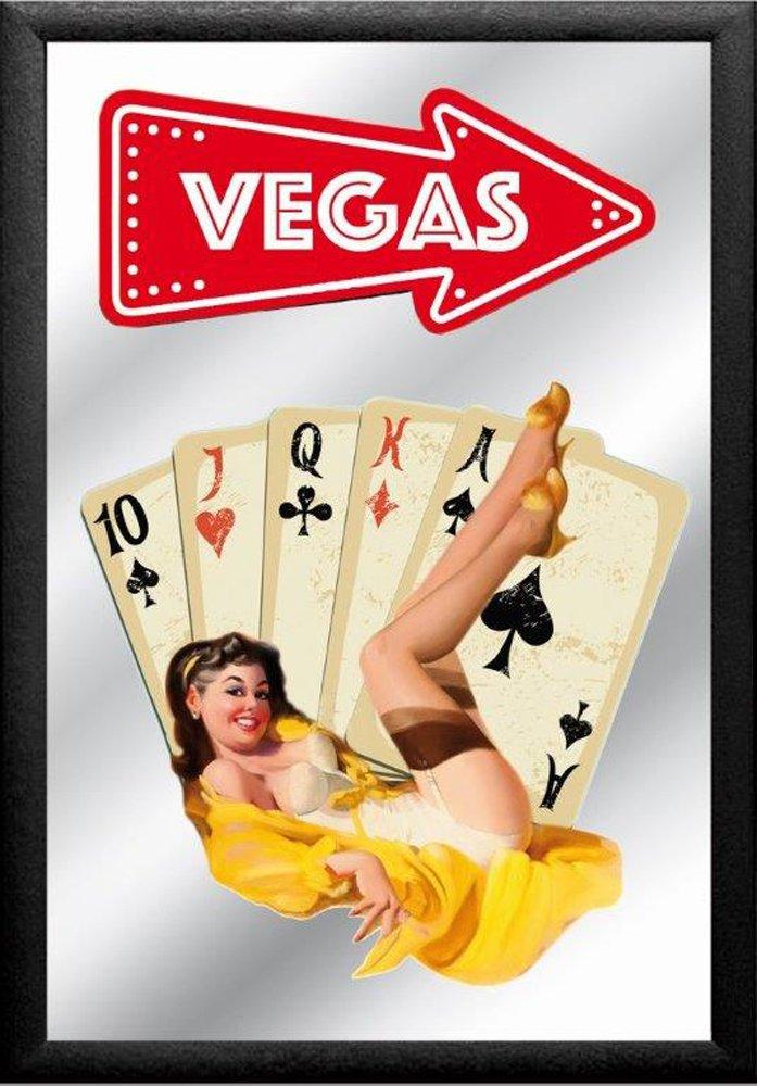 empireposter –  Las Vegas –  CASINO –  Cards –  dimensioni (cm), ca. 20 X 30 –  Specchio Con Cornice, nuovo –  Descrizione: – &nbs