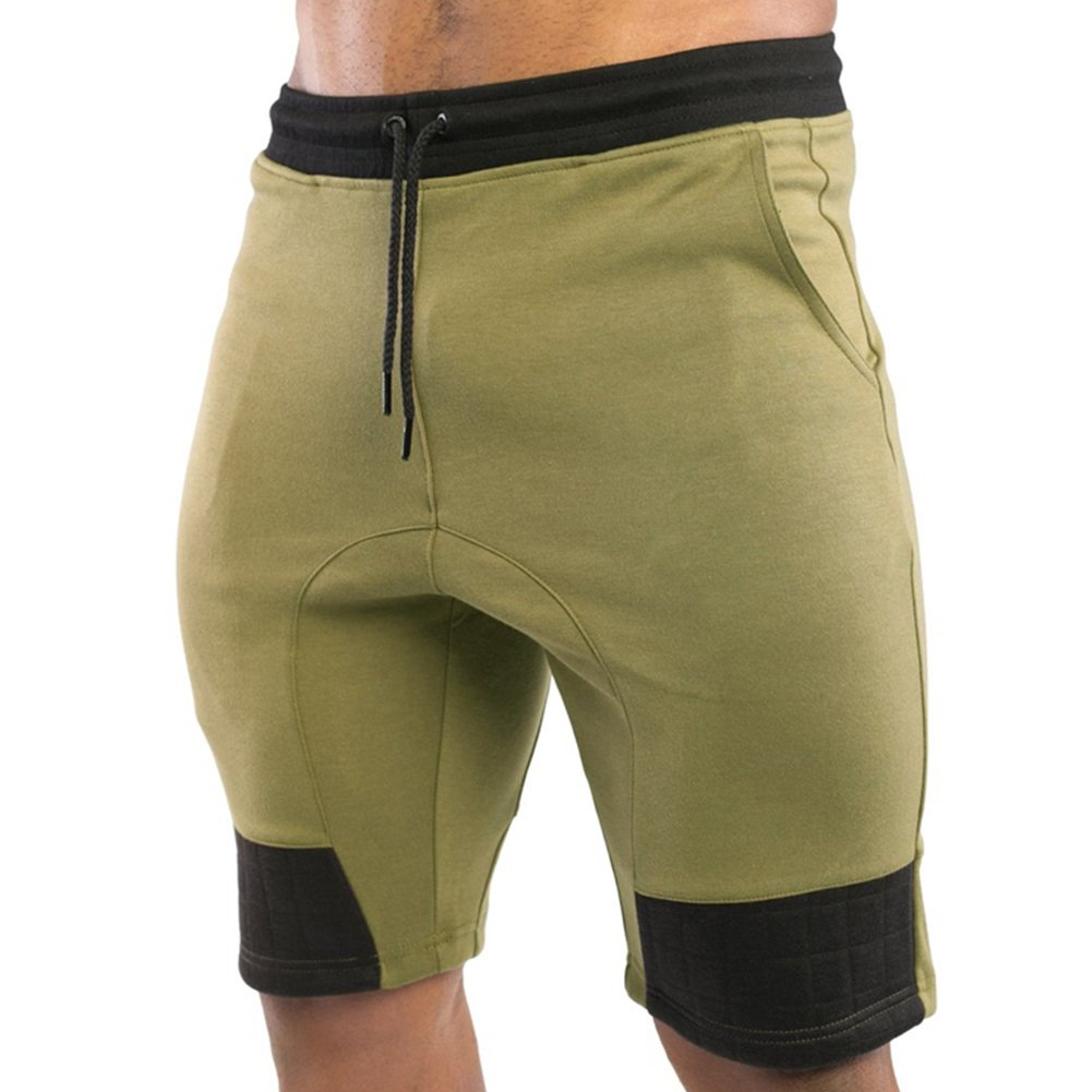 MECH-ENG Men's Gym Workout Running Bodybuilding Jogger Shorts with Pockets 37501