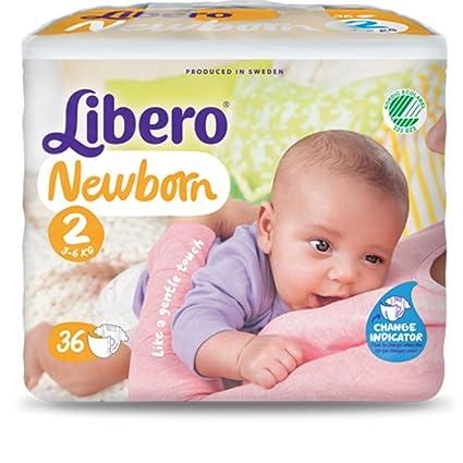 Newborn pañales libre medida 2/3-Kg 6-216 (piezas 6 paquetes