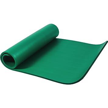 Gorilla Sports Yogamatte In Verschiedenen Farben - Colchoneta de yoga (15 mm, 180-200 cm, deluxe, acolchado, anti deslizante, grueso), color verde, ...
