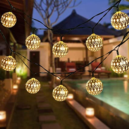 Globe String Lights CMYK 40 Ft 40 Balls Waterproof LED Fairy Lights Unique Decorative Globe Balls