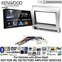 Volunteer Audio Kenwood DDX9904S Double Din Radio Install Kit with Apple CarPlay Android Auto Bluetooth Fits 2005-2011 Non Amplified Toyota Tacoma (Silver)