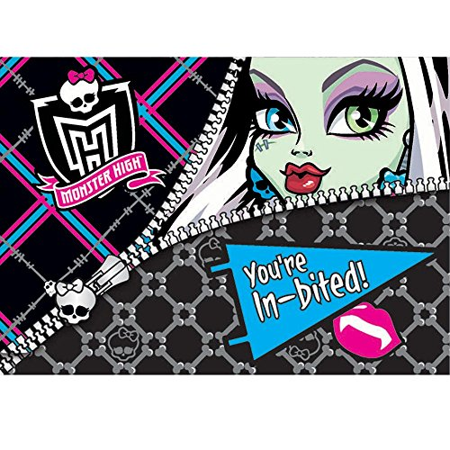 Monster High Invitations 8 Count