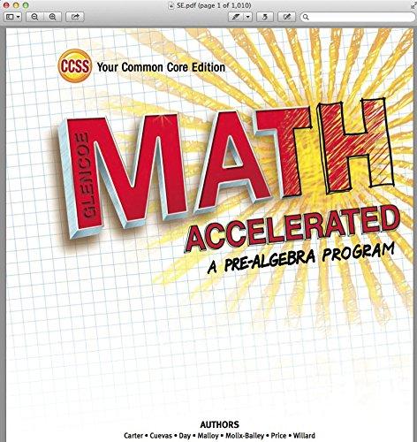 Amazon.com : Glencoe Math Accelerated, Course 2, Course 3 ...