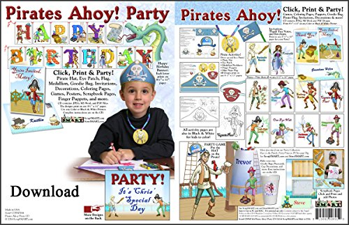 - ScrapSMART - Pirate Ahoy! Party Kit - Jpeg, PDF, and Microsoft Word Files for Mac [Download]