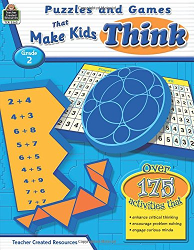 Read Online Puzzles and Games that Make Kids Think Grd 2 PDF