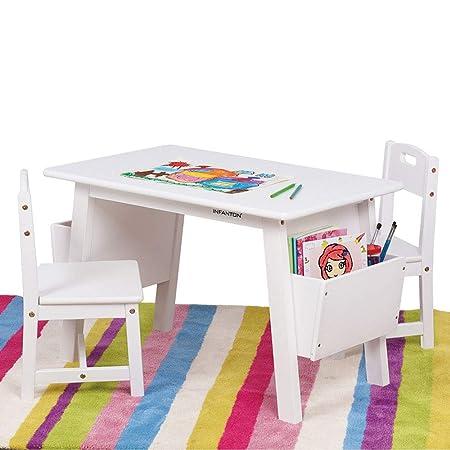 Kids Table Chair Sets [1 Mesa 2 sillas Mesa y sillas de Madera ...