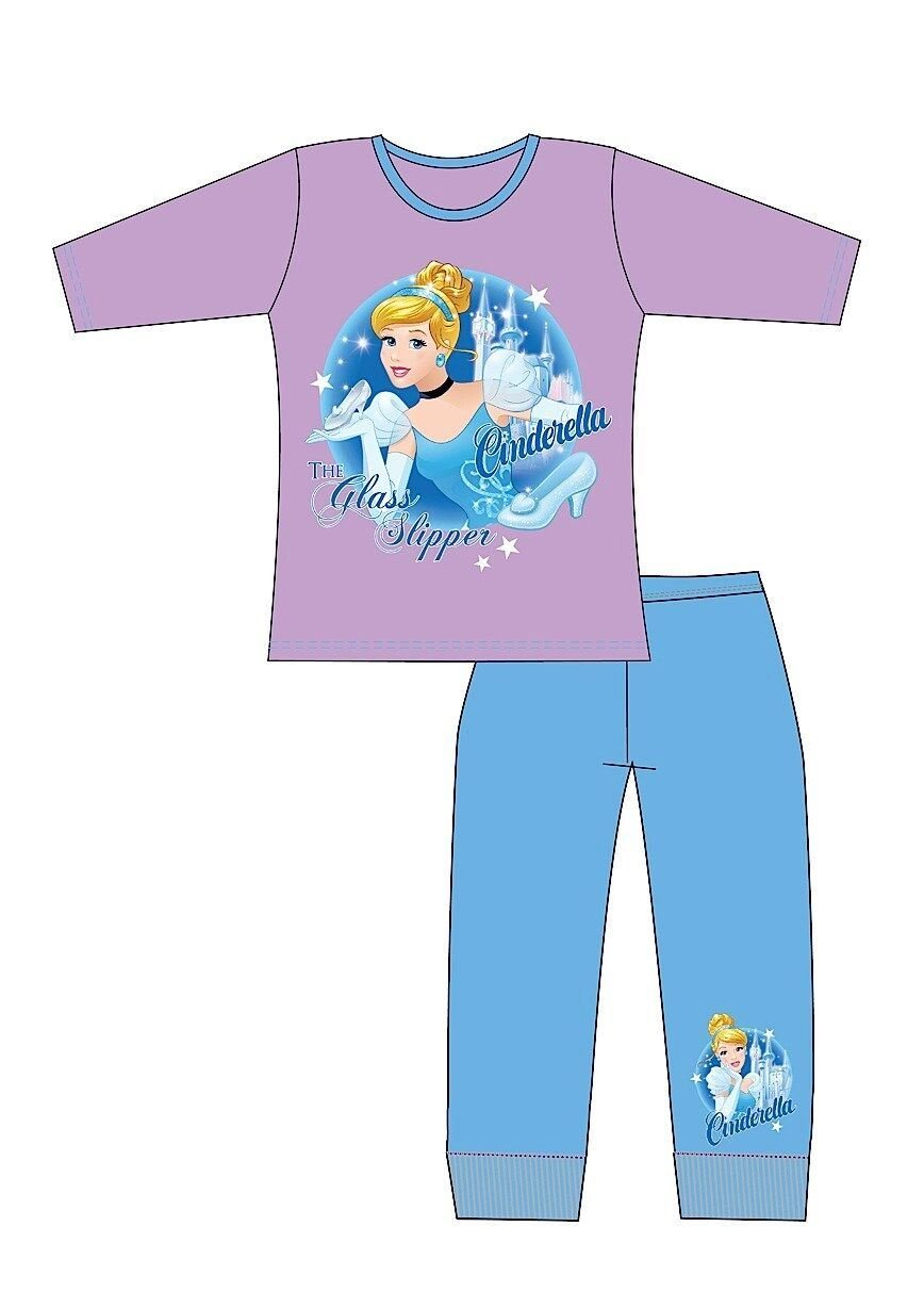 Children's Cotton Character Pyjamas Disney Princess Cinderella The Glass Slipper 5-6 Years