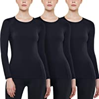 ATHLIO Women's (Pack of 1, 3) Wintergear Compression Baselayer Long Shirt