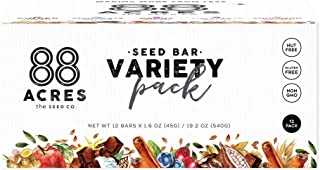 product image for 88 Acres Granola Bars | Variety | Gluten Free, Nut-Free Oat and Seed Snack Bar | Vegan & Non GMO | 12 Pack