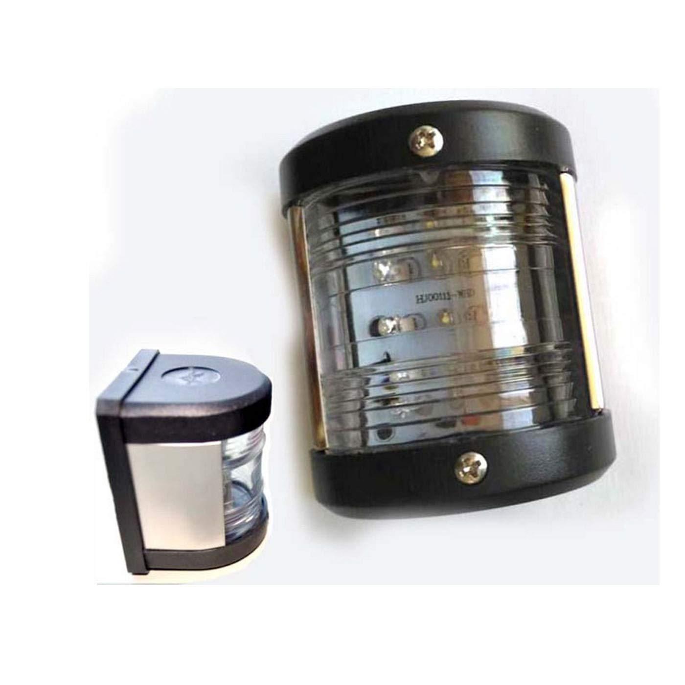 1 Pc 12V Stainless Steel Waterproof Navigation LED Light 135 Degrees Tail Stern Light Port Bulb for Boat Marine Yacht