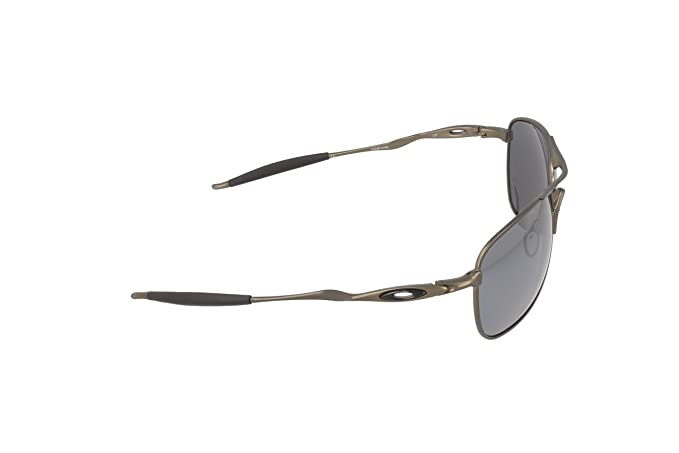 f8c1912c5b373 Oakley Mens Ti Crosshair OO6014-02 Polarized Oval Sunglasses,Pewter  Frame Black Iridium Polarized Lens,one size  Amazon.com.mx  Ropa, Zapatos y  Accesorios