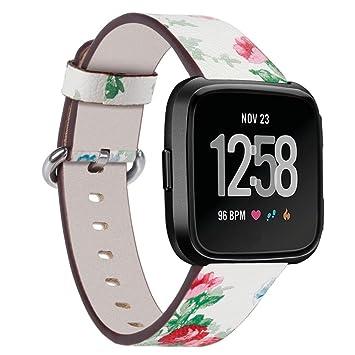 Y56 Bands para Fitbit Versa Impresión Piel Pulsera Pulsera de Repuesto para Fitbit Versa Reloj de