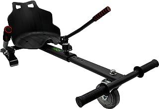 Hiboy-Seat Kart PRO per Scooter Elettrico, Sedia Hoverboard ALLOTERRENO con sospensioni Auto bilanciamento Compatibile con Tutti Gli Scooter elettrici da 6,5, 8 e 10 Pollici, Nero kart-0105