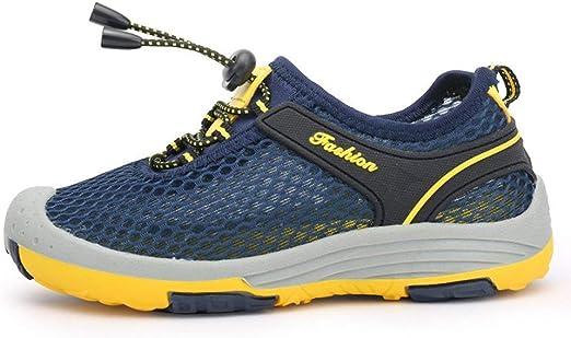 Qiusa - Zapatillas Informales para niños con muelles, Ligeras, Transpirables, Azul Marino, 2.5 Child UK/EU36: Amazon.es: Hogar