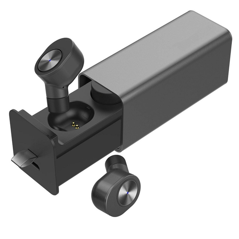 Bedee Écouteurs Bluetooth, Oreillette sans Fil Sport Bluetooth V4.2 avec Boîte de Charge, Réduction de Bruit, Sweatproof