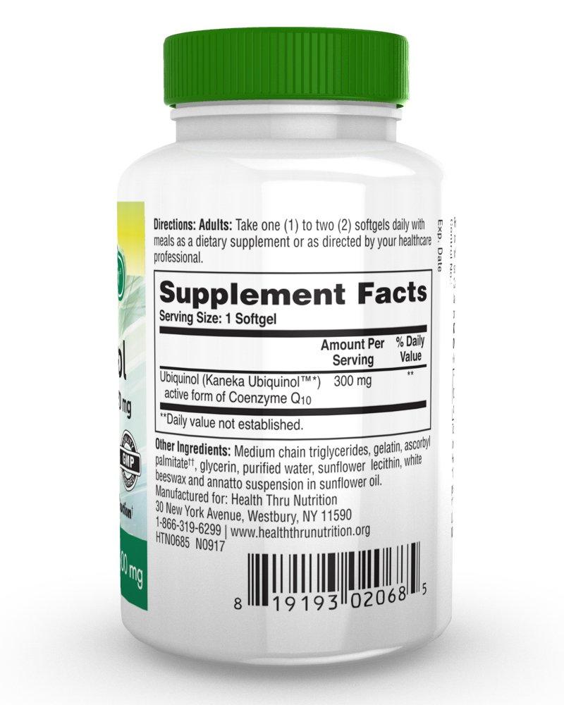 Ubiquinol 300 mg 30 cápsulas blandas EAF CoQ10 (Coenzima Q10 ...