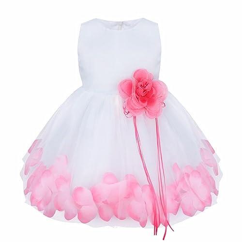 iiniim Vestido de Bebé para Bautizo para Bebé 0 a 24 Meses Vestidos de Fiesta de