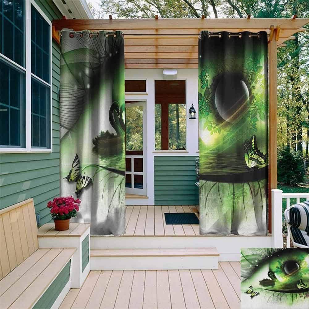 DONEECKL - Cortina Impermeable para Exteriores, diseño de cómic con Efecto de explosión en Fondo Abstracto Aislado con Arandelas para recámara, Multicolor: Amazon.es: Jardín