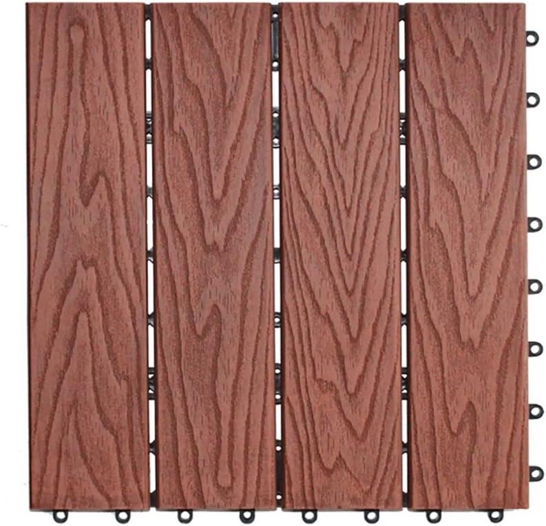 piso Suelo al aire libre, patio del jardín de DIY del patio de madera del plástico Suelo antideslizante Cuarto de baño interior del balcón Anticorrosión WPC Tamaño del suelo: los 30 *
