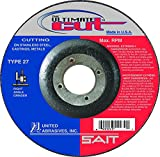 United Abrasives-SAIT 22390 SAIT Ultimate Cut Type 27 Cutting Wheel (50 Pack), 6 x .045 x 7/8''