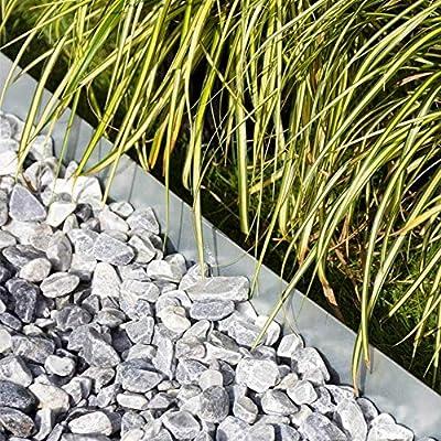 Multi-Edge Bordura metálica Acero Galvanizado - Bordes/separadores para el jardín de Acero galvanizado, 100 x 17,5 cm. A Partir de 5 Unidades. (23 Unidades): Amazon.es: Jardín
