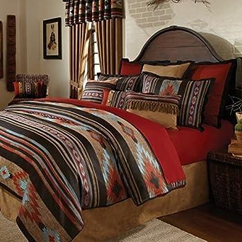Amazon Com 4 Piece Red Brown Southwest Comforter Full Set
