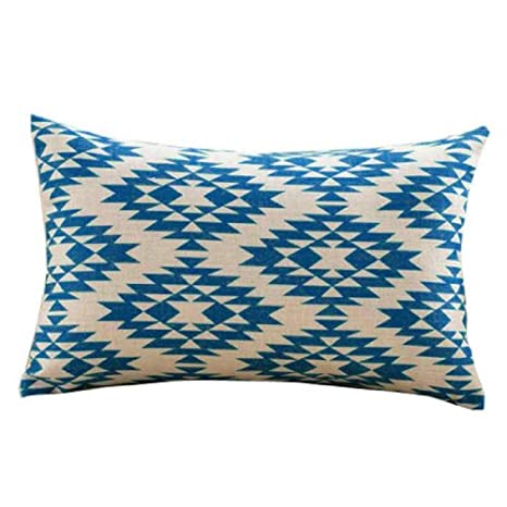 VJGOAL Moda Impresión Geométrica Suave Lino algodón Funda de ...