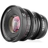MEKE 16mm T2.2 Large Aperture Manual Focus Prime Low Distortion 4K Mini Cine Lens for Micro Four Thirds M4/3 MFT…