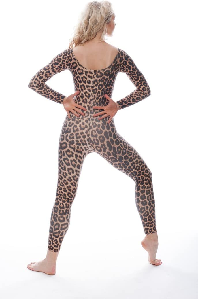 AGE 13-15 YEARS CHEETAH CATSUIT LONG SLEEVE