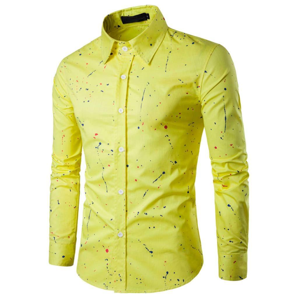 Btruely Herren Camisa Superior de Manga Corta con Estampado de Lunares para Hombre Camisa Casual de Algodón: Amazon.es: Ropa y accesorios