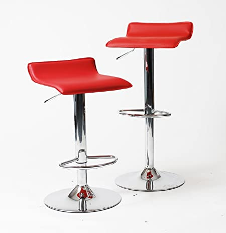 Amazon.com: Apontus PU Leather Swivel Hydraulic Bar Stool, Set of .