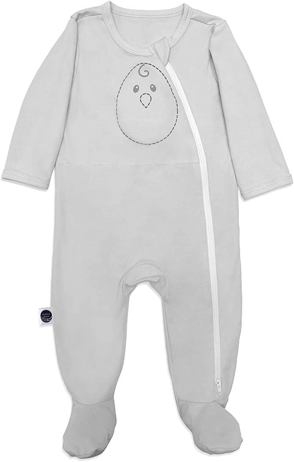 100/% Cotton Long Sleeved Gently Weighted Nested Bean Zen Footie Pajama Classic