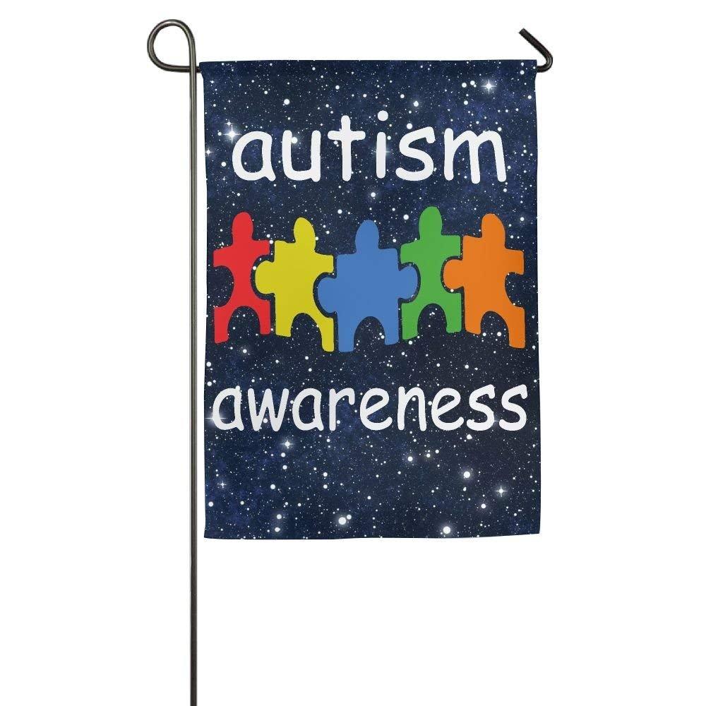 Flyss Garden Flag - 12 X 18 Inch Decorative Cute Autism Awareness House Flag