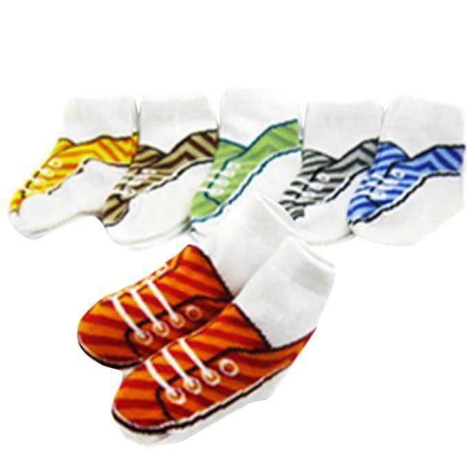 KF bebé antideslizantes calcetines de zapatillas, 6 pares, para 9 – 18 meses