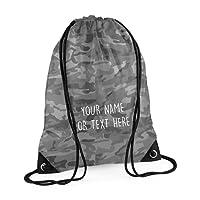 MYOG Personalised Premium Drawstring Bag PE Gym Kit School P.E Kids Sport Rucksack (22 Colours)