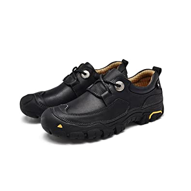 Men Trekking Hiking Walking Outdoor Shoes Genuine Leather Worker Lace-up Casual Waterproof