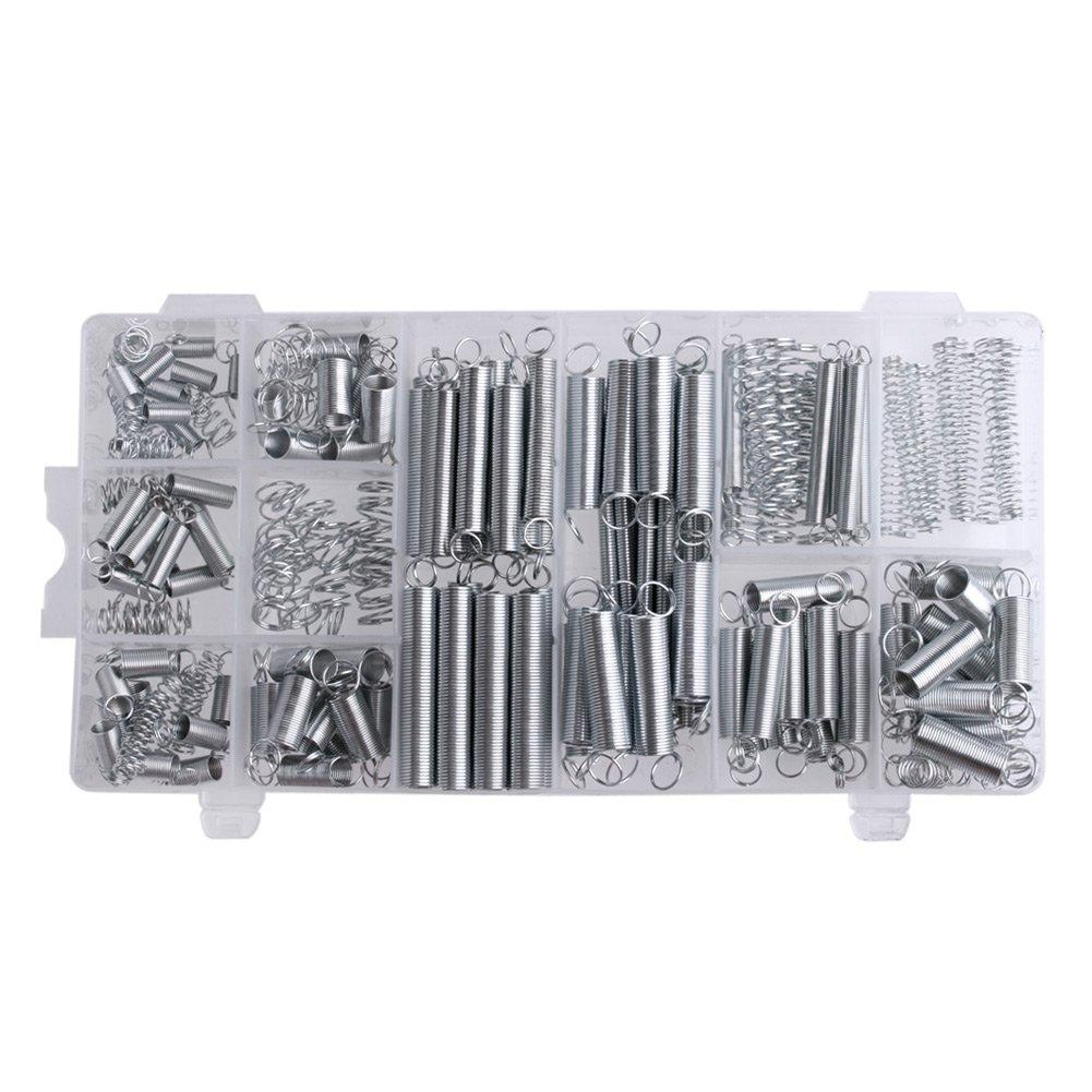 Kocome 200 Pcs 20 Sizes Practical Metal Tension Compresion Springs Assortment Set