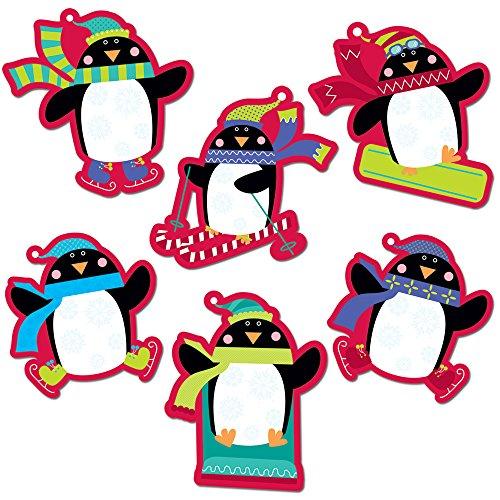 Creative Teaching Press 6-Inch Designer Cut-Outs, Playful Penguins (3880)