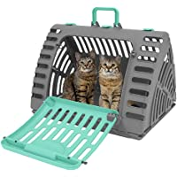 SportPet Designs CM-0327-CS01 SportPet Designs X-Large Foldable Travel Cat Carrier - Front Door Plastic Collapsible Carrier, XL Carrier