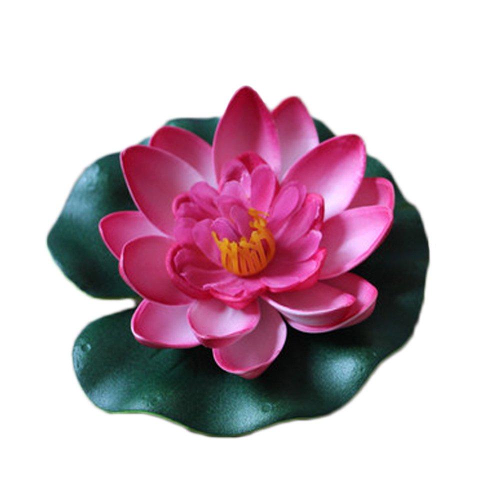 Xuxuou Flottant Lotus Fleurs Artificielles Lotus Né nuphar Simulation Plantes Aquatiques pour Mariage Aquariums Fish Tank É tang Dé coration