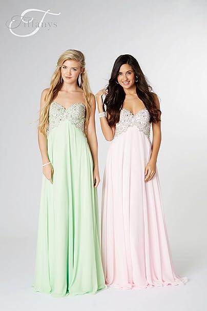 Tiffanys Illusion Prom Vestido Verde Manzana Eva Vestido De Fiesta UK 10 (US 6)