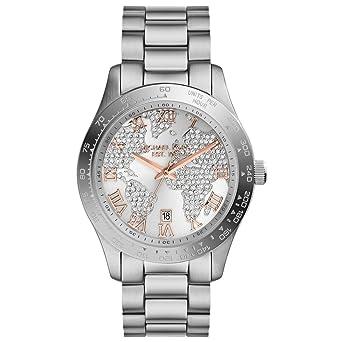 4dca09f96e42 Amazon.com  Michael Kors MK5958 Ladies Layton Chronograph Silver ...