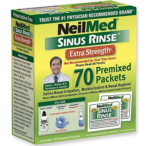Hypertonic Saline - Neilmed Sinus Rinse Extra Strength Hypertonic 70 Packets