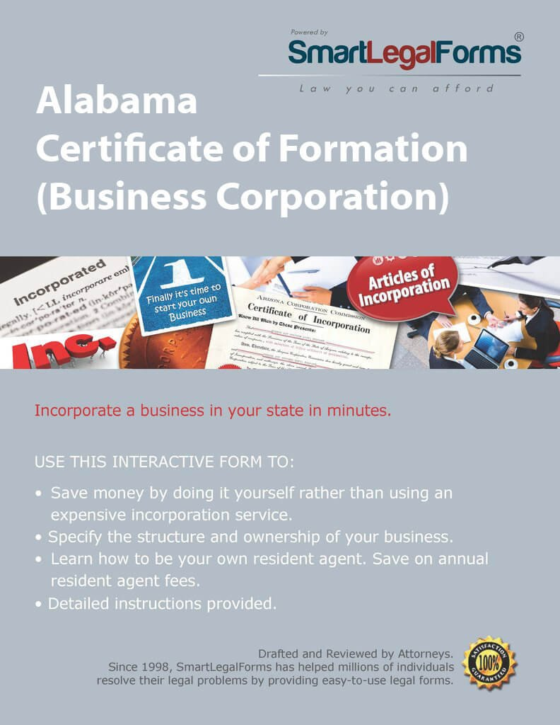 Amazon Certificate Of Formation Business Corporation Al