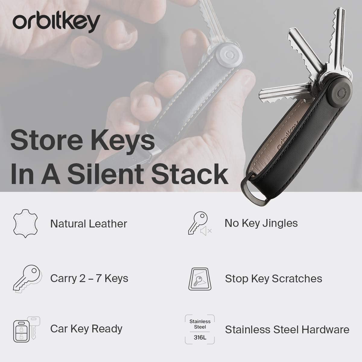 Orbitkey 2.0 Stone Leather